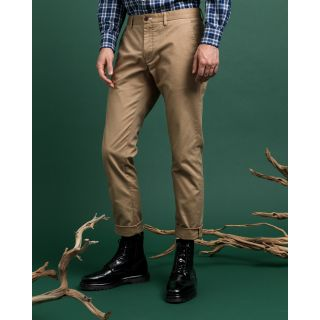 Gant - Byxa - Hallden Tech Prep Chinos (248 Dark Khaki) - Thernlunds