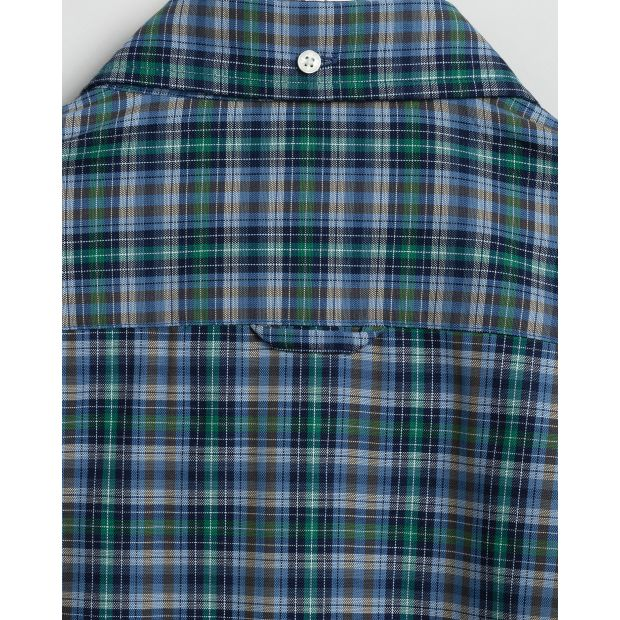 Gant - Skjorta - TP Oxford Indigo Check Reg Bd - Thernlunds