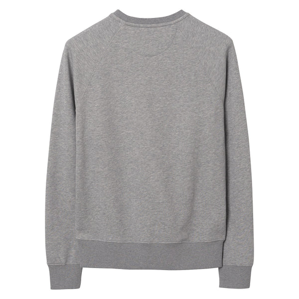 Gant - Tröja - Gant Shield C-Neck Sweat (93 Grey Melange) - Thernlunds