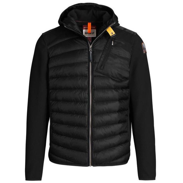 Parajumpers - Jacka - Nolan Hybrid Hooded Jacket (541 Black) - Thernlunds