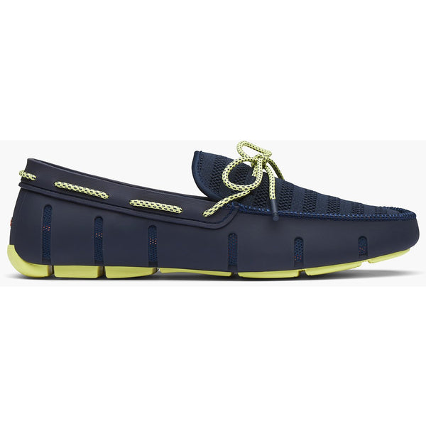 Swims - Skor - Knit Lace Loafer (038 Navy/Limelight) - Thernlunds