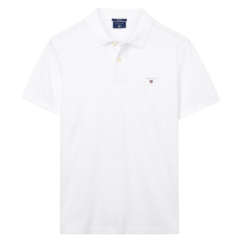 Gant - Pikétröja - The Original Pique SS Rugger (110 White) - Thernlunds
