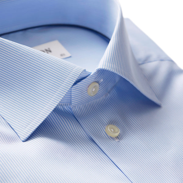Eton - Skjorta - Striped Poplin Contemporary Shirt (23 Blue) - Thernlunds