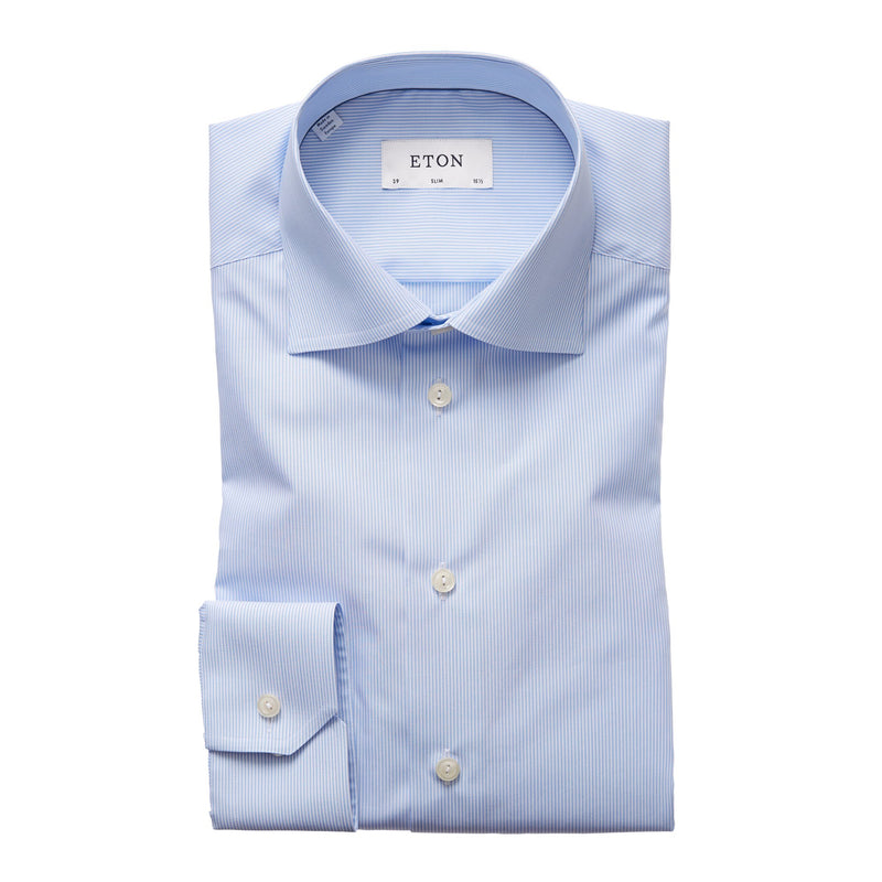 Eton - Skjorta - Signature Slim Shirt (23 Blue) - Thernlunds