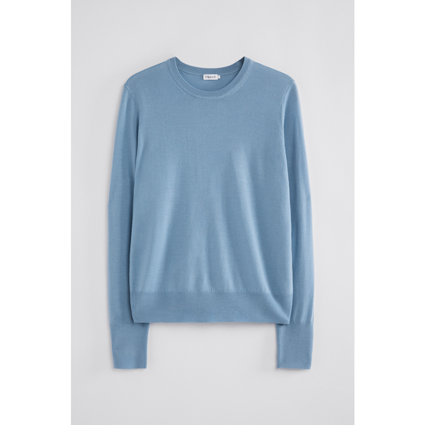 Merino R-neck Sweater - Thernlunds