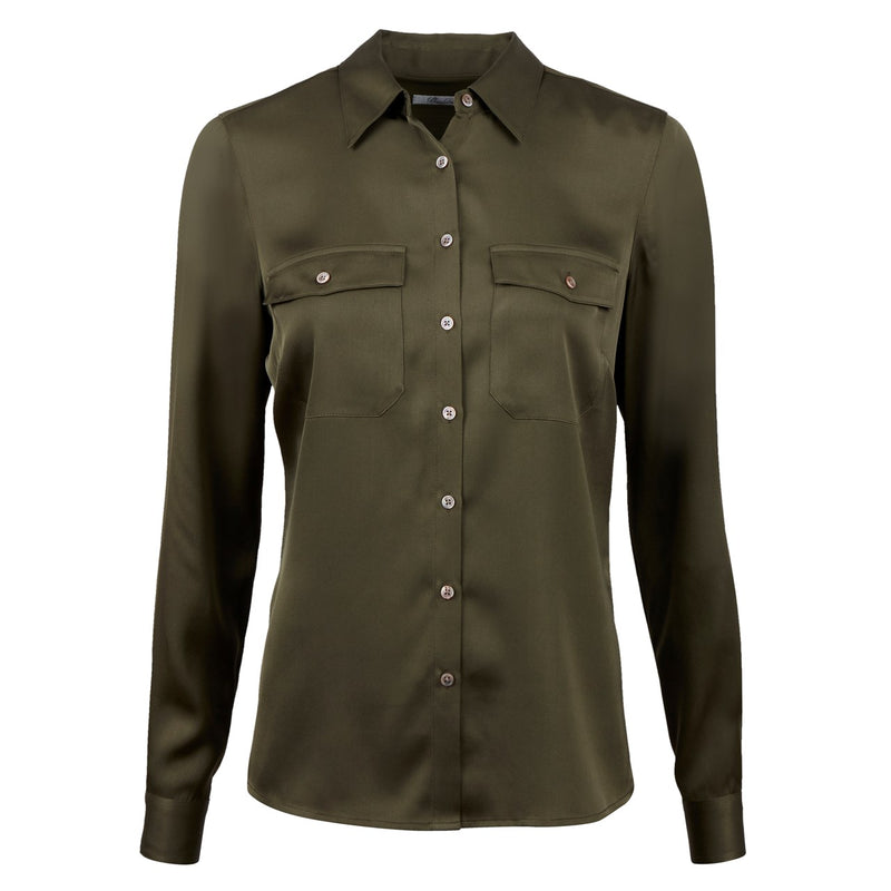 Stenströms - Skjorta - Shirt, with pockets (430 Green) - Thernlunds
