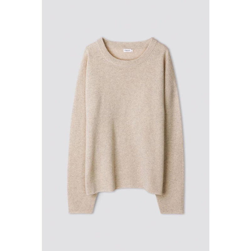 Filippa K - Tröja - Lina Sweater (8927 Sand Beige Melange) - Thernlunds
