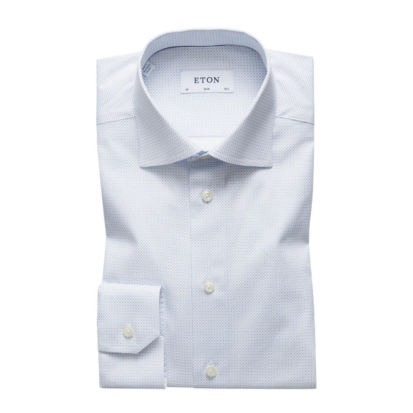 Poplin Slim Shirt (21 Blue)