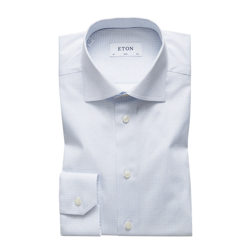 Eton - Skjorta - Poplin Slim Shirt (21 Blue) - Thernlunds