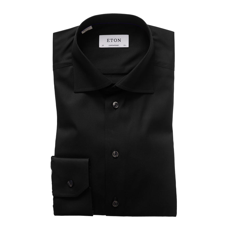 Eton - Skjorta - Signature Contemporary Shirt (18 Black) - Thernlunds