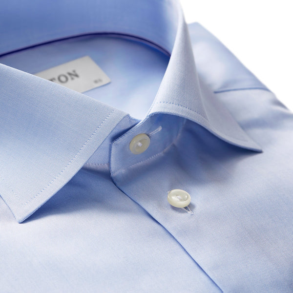 Eton - Skjorta - Signature Slim Shirt (21 Blue) - Thernlunds