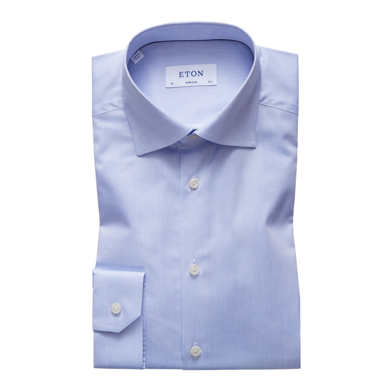 Eton - Skjorta - Signature Twill Super Slim Shirt (21 Blue) - Thernlunds