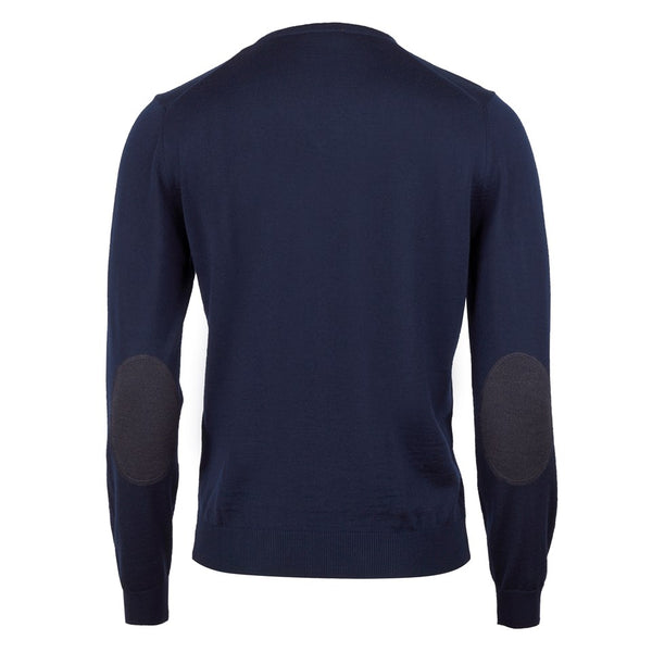 Stenströms - Tröja - V-neck w. patch, Merino wool - Thernlunds