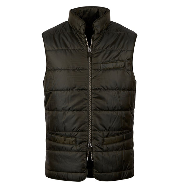 Stenströms - Väst - Quilted Vest,Houndstooth (481 Dark Green Pattern) - Thernlunds