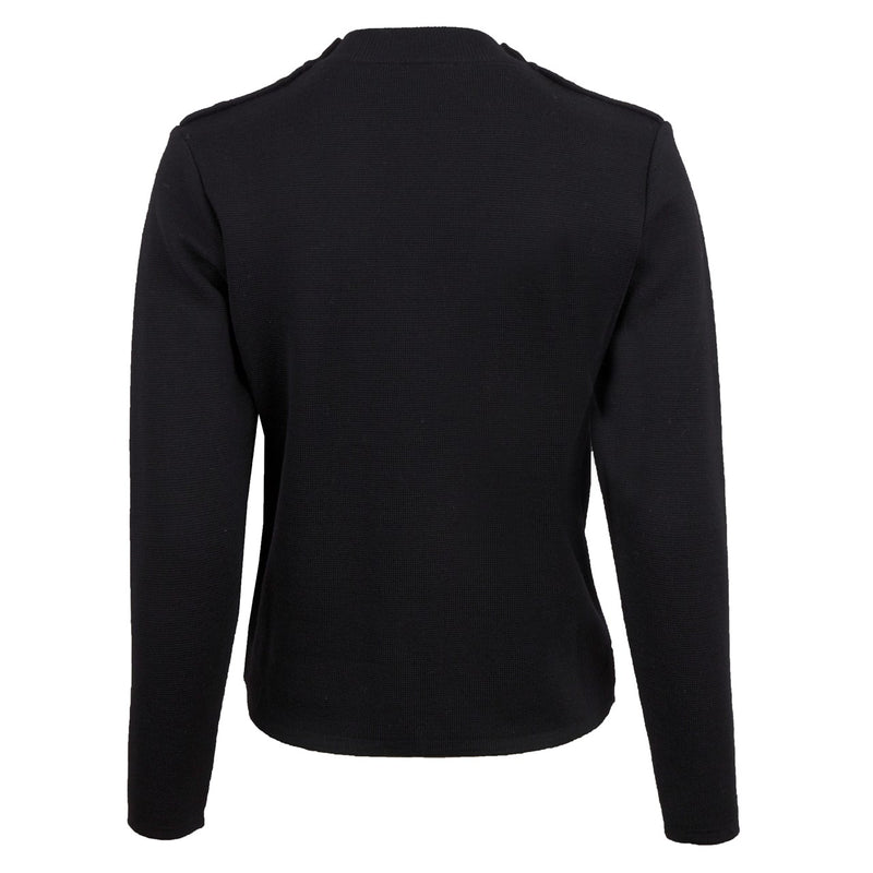 Stenströms - Tröja - Knit,buttons at shoulder (600 Black) - Thernlunds