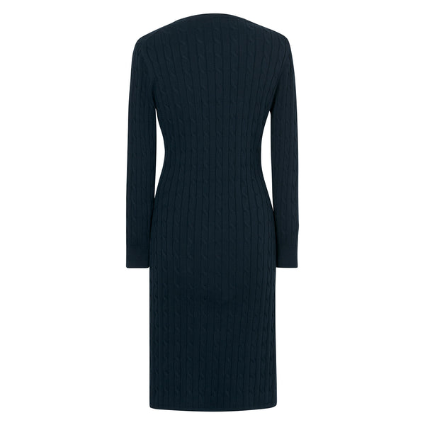 Gant - Klänning - Stretch Cotton Cable Dress - Thernlunds