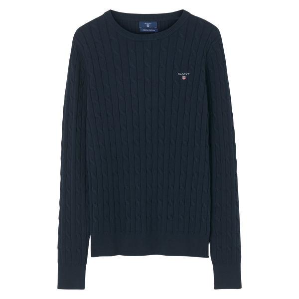 Stretch Cotton Cable Crew - Thernlunds