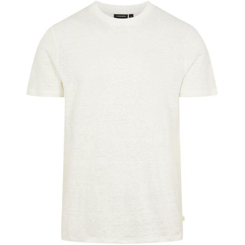 J.Lindeberg - T-shirt - Coma-Clean Linen (A003 Cloud White) - Thernlunds