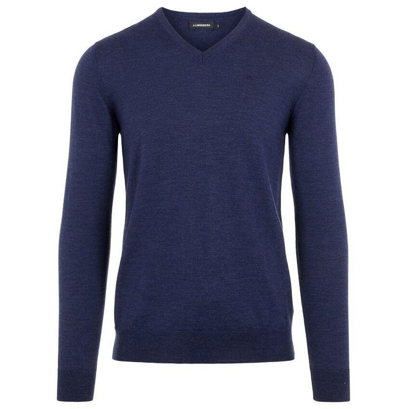 J.Lindeberg - Tröja - Newman Perfect Merino Sweater (6855 Blue) - Thernlunds