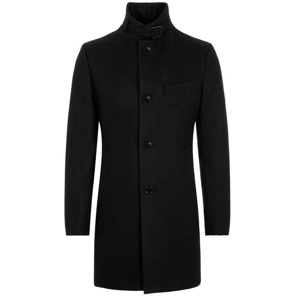 J.Lindeberg - Rock - FMOW02642 Holger Compact Melton Coat (9999 Black) - Thernlunds