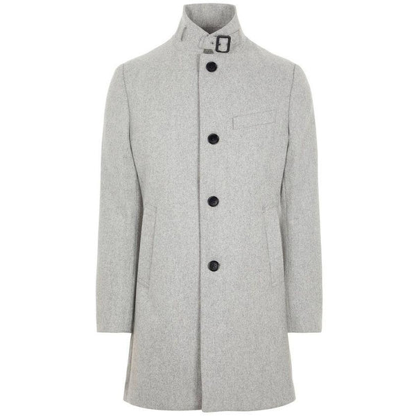 J.Lindeberg - Rock - FMOW02642 Holger Compact Melton Coat (9117 Granite Melange) - Thernlunds