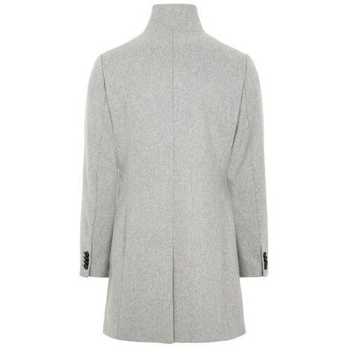 J.Lindeberg - Rock - Holger Compact Melton Coat (9117 Granite Melange) - Thernlunds