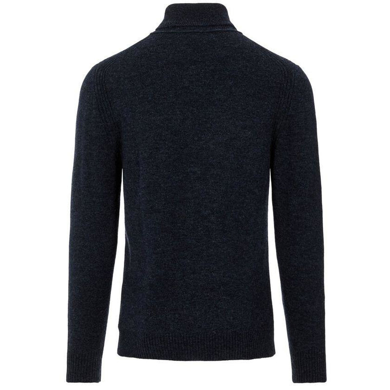 J.Lindeberg - Tröja - Ivo Turtle Neck sweater (6881 Navy Melange) - Thernlunds
