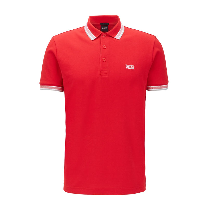 Hugo Boss Athleisure - Pikétröja - Paddy Polo (610 Medium Red) - Thernlunds