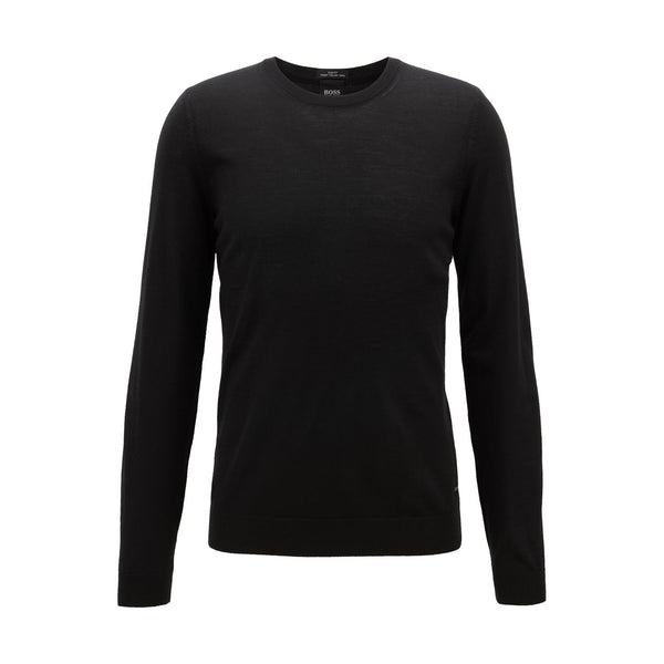 Hugo Boss Business - Tröja - Leno-P Sweater (001 Black) - Thernlunds