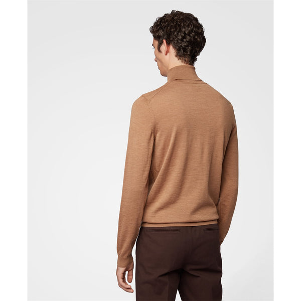 Hugo Boss Business - Tröja - Musso Polo Pullover (262 Medium Beige) - Thernlunds