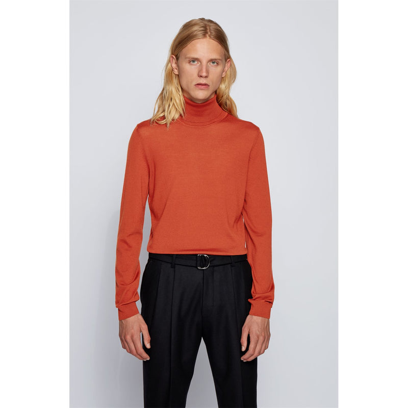 Hugo Boss Business - Tröja - Musso Polo Pullover (844 Open Orange) - Thernlunds