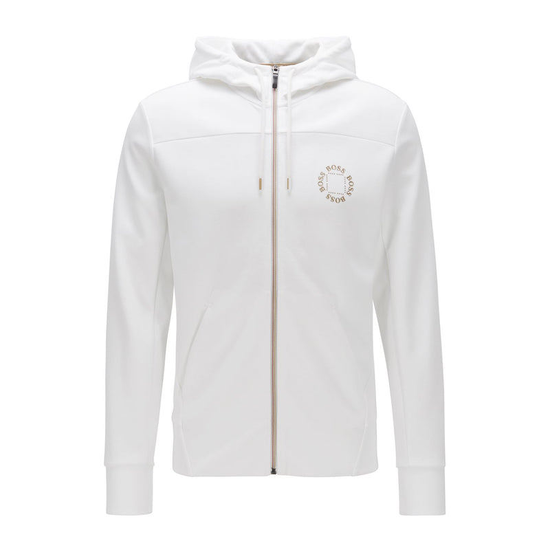 Hugo Boss Athleisure - Tröja - Saggy Circle 10217467 01 (112 Open White) - Thernlunds