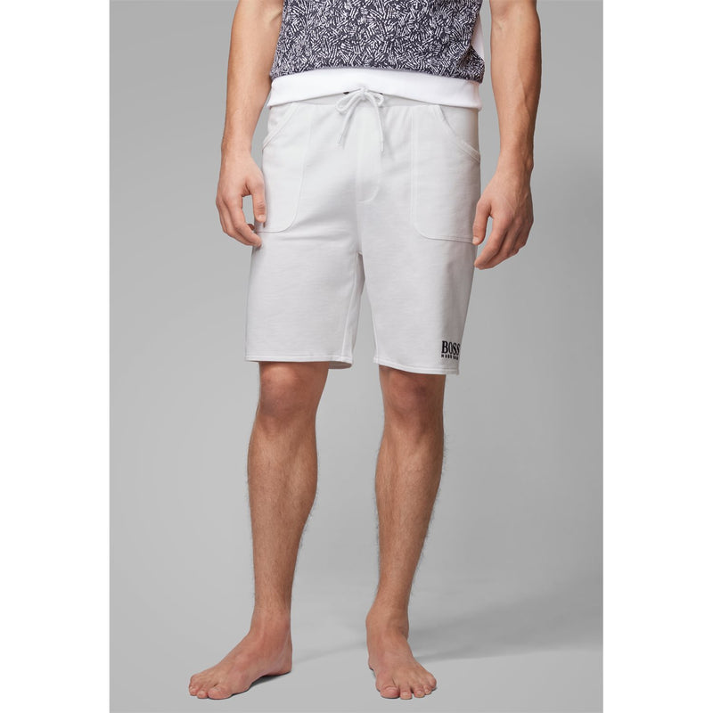 Hugo Boss Business - Shorts - Jacquard Shorts 10199143 01 (100 White) - Thernlunds