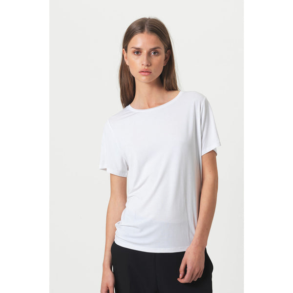 Second Female - T-shirt - 53142 Ello Loose SS Tee (1001 White) - Thernlunds