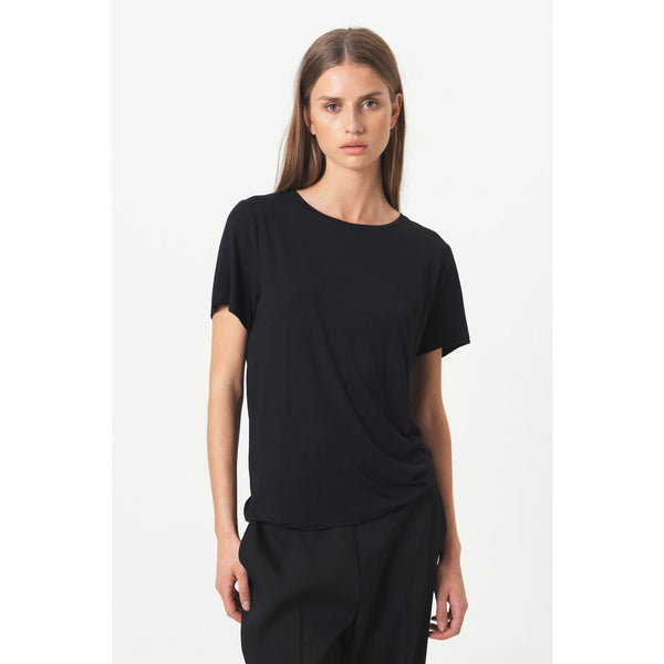 Second Female - T-shirt - 53142 Ello Loose SS Tee (8001 Black) - Thernlunds
