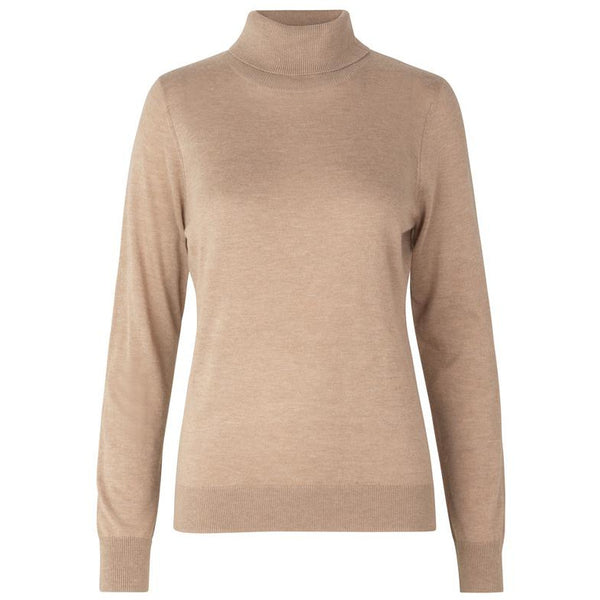 Second Female - T-shirt - Felina Knit T-Neck (6030 Ginger Root) - Thernlunds