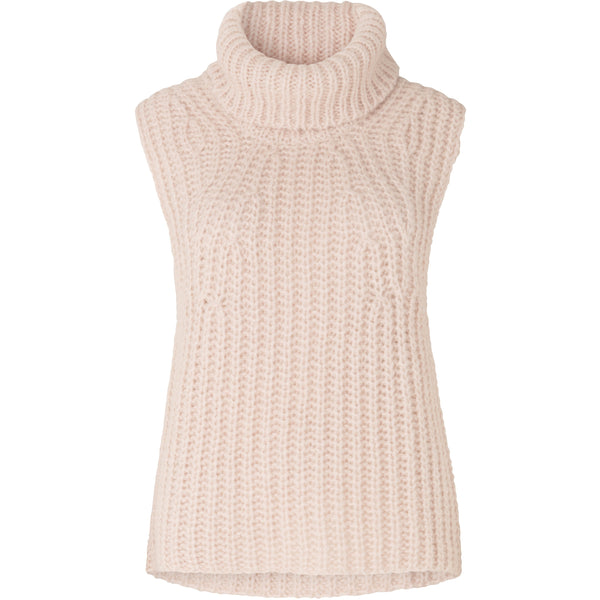 Second Female - Väst - Ivory Knit Vest - Thernlunds
