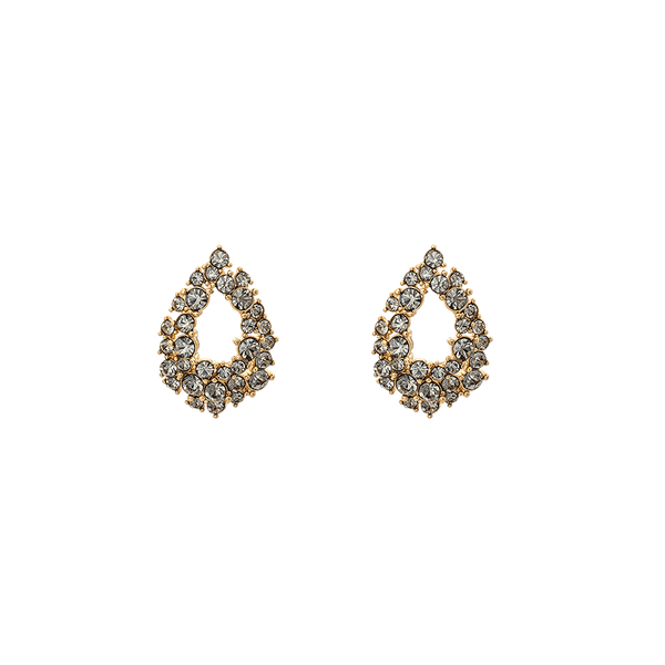 Petite Alice earrings (Black diamond)
