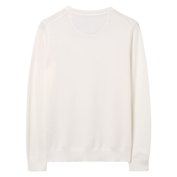 Gant - Tröja - Cotton Pique Crew (113 Eggshell) - Thernlunds
