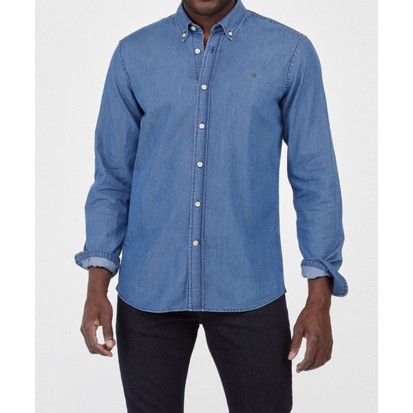 Morris - Skjorta - Julian Button Down Denim Shirt (56 Blue) - Thernlunds