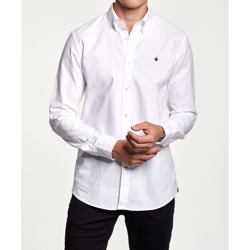 Morris - Skjorta - Oxford Button Down Shirt (01 White) - Thernlunds