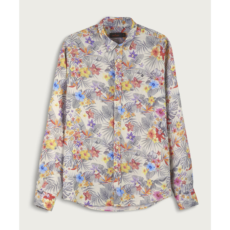 Morris - Skjorta - Harvey Button Down Shirt (02 Off White) - Thernlunds