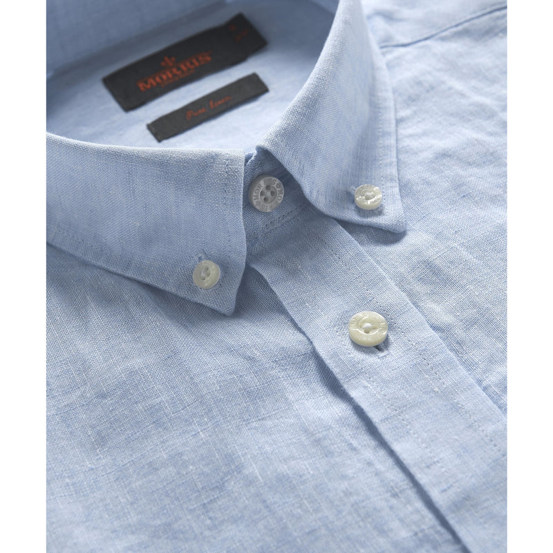 Morris - Skjorta - Douglas Linen Shirt (55 Light blue) - Thernlunds