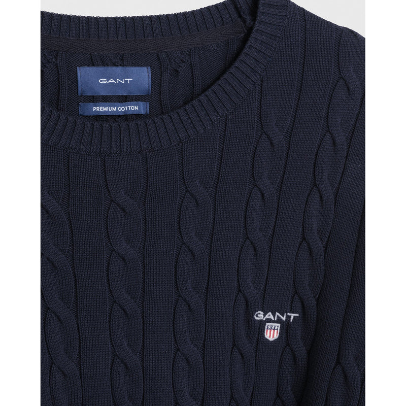Gant - Tröja - Cotton Cable Crew - Thernlunds