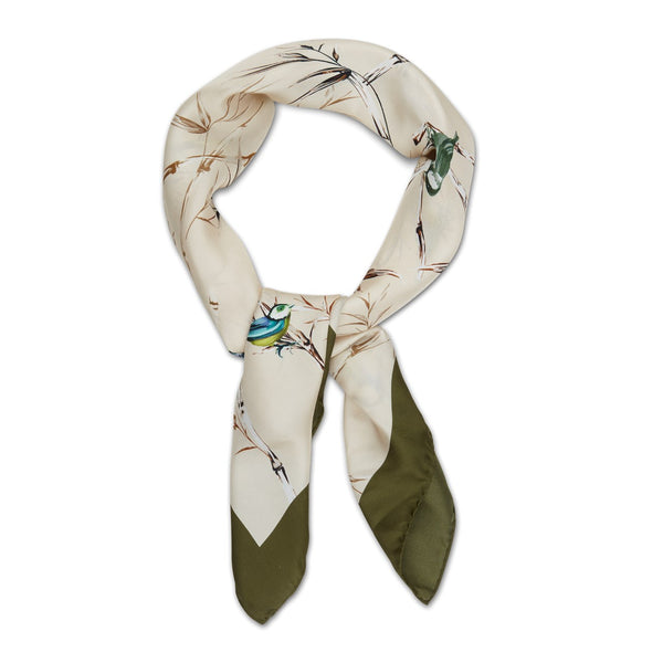 Stenströms - Huvudbonad - 931400 Colourful Birds Scarf (51 Offwhite Pattern) - Thernlunds