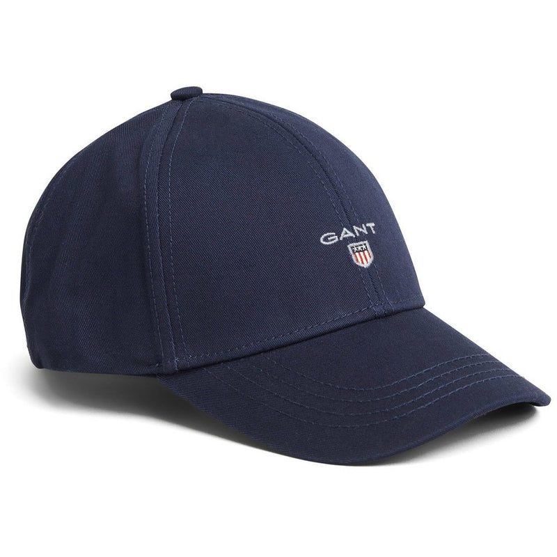 Gant - Keps - Gant New Twill Cap (410 Marine) - Thernlunds