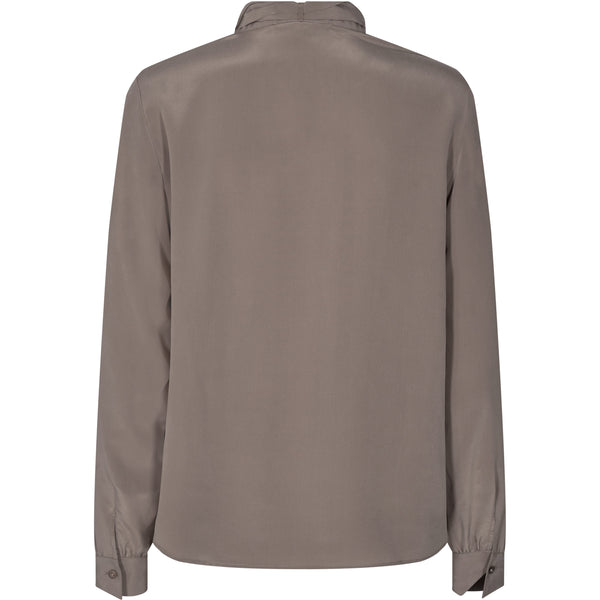 Mos Mosh - Skjorta - Toni Silk Shirt (662 Chocolate Chip) - Thernlunds