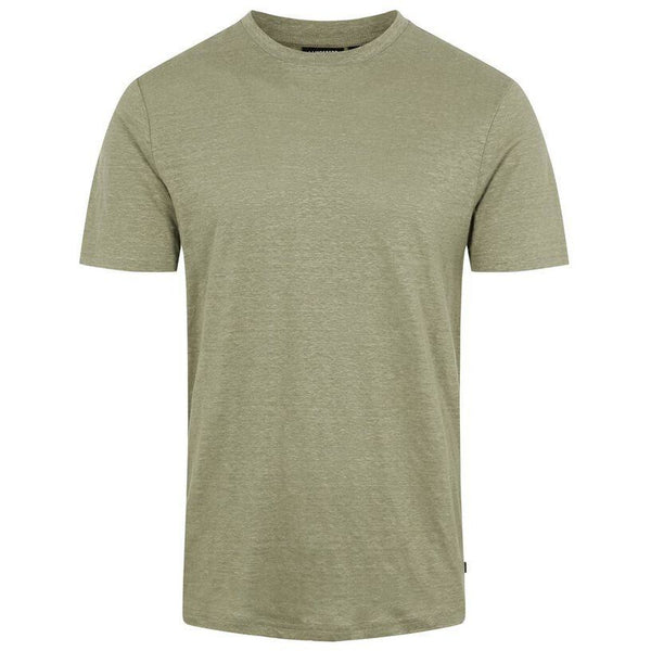 J.Lindeberg - T-shirt - Coma-Clean Linen (M267 Covert Green) - Thernlunds