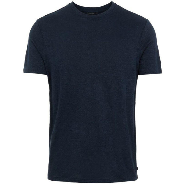 J.Lindeberg - T-shirt - Coma-Clean Linen (6855 Navy) - Thernlunds