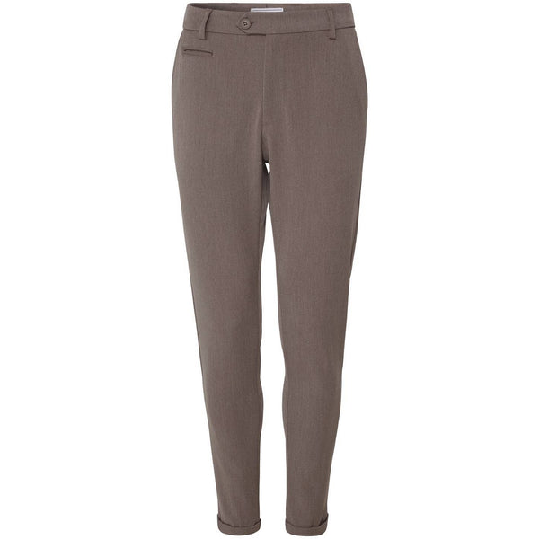Les Deux - Byxa - Como Suit Pants (Brown Melange) - Thernlunds